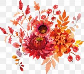 Flower Watercolor - Cut Flowers Watercolor Painting Clip Art PNG