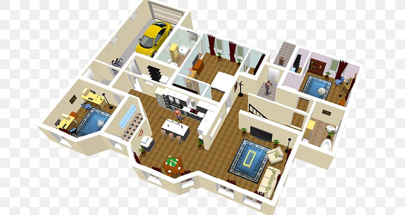 Sweet Home 3d House Floor Plan Png 700x436px 3d Computer Graphics Software Sweet Home 3d Architecture