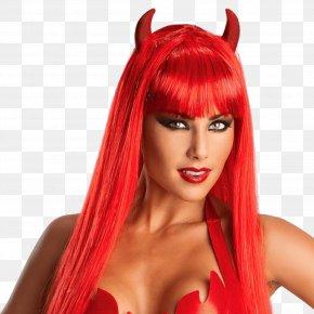 Devil - Wig Devil Costume Demon Satan PNG