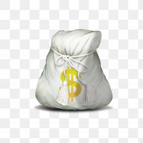 White Money Bag - Money Bag Icon PNG