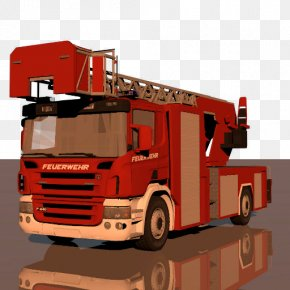 Scania Truck - Fire Department Public Utility Commercial Vehicle Cargo PNG