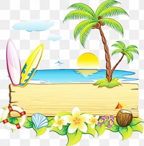 Palm Tree Vacation - Palm Tree Background PNG