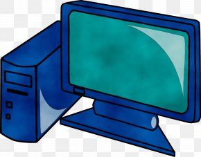 Electric Blue Desktop Computer - Computer Monitor Accessory Clip Art Computer Monitor Screen Output Device PNG