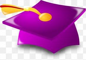 Graduation Gold Cliparts - Graduation Ceremony Square Academic Cap Purple Clip Art PNG
