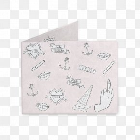 Cute Anchor Tattoos Finger - Paper Product Design Rectangle Font PNG