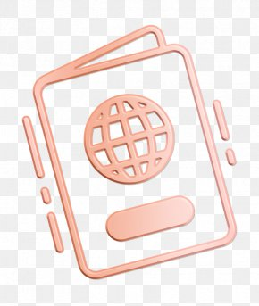 Peach Vacation Icon - Citizenship Icon Document Icon Identity Icon PNG