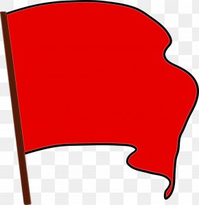 Red Flag Warning Flag Of Papua New Guinea - Flag Background PNG
