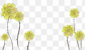 Three-dimensional Yellow Flowers Background - Floral Design Flower Yellow Three-dimensional Space PNG