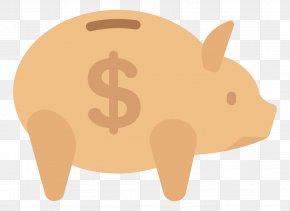 Flat Piggy Bank - Small Business Saving Piggy Bank Service PNG