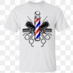 Barber Pole - Hair Clipper Barber's Pole Barbershop Scissors PNG