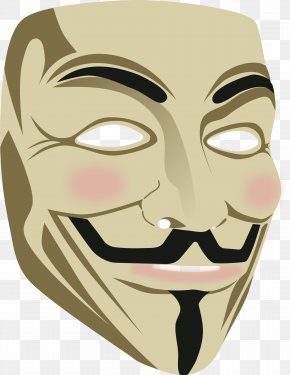 Mask - Guy Fawkes Mask V For Vendetta Clip Art PNG