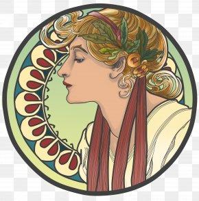 Art Nouveau - Art Nouveau Style Art Deco Alphonse Mucha PNG