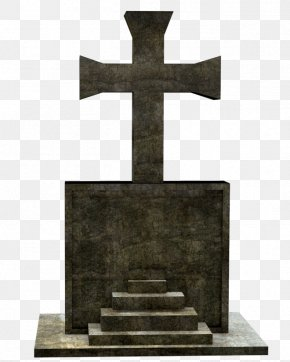Headstone - Cross Grave Headstone Memorial Cemetery PNG