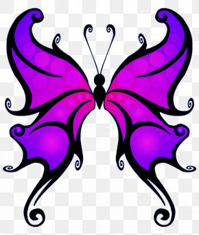 Purple Butterfly Clipart - Butterfly Color Clip Art PNG