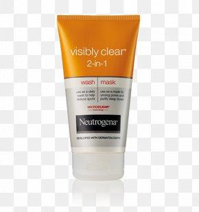 Facewash - Cleanser Neutrogena VISIBLY CLEAR Pink Grapefruit Cream Wash Neutrogena Oil-Free Acne Wash Exfoliation PNG
