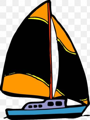 Hand Drawn Sail - Sailing Ship Cartoon Drawing PNG