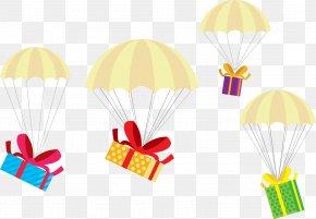 Vector Parachute Gift Box - Christmas Gift Christmas Gift PNG