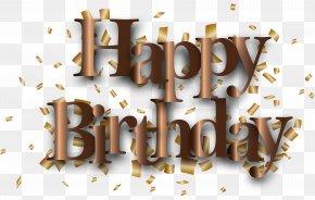 Happy Birthday Clip Art Image - Birthday Cake Party Digital Scrapbooking Clip Art PNG