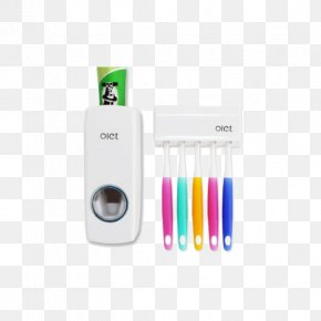 Double Celebration Home Creative Automatic Toothpaste Dispenser With Toothbrush Holder - Toothpaste Pump Dispenser Toothbrush Bathroom PNG