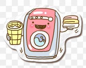 Cute Cartoon Washing Machine - Cartoon Washing Machine PNG