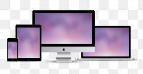 Apple Laptop Modern Technology - Responsive Web Design Mockup Website PNG