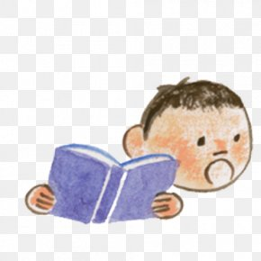 Good Morning Reading Boy - Reading Learning PNG