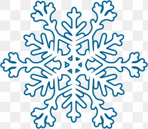 Blue Snow - Blue Snowflake Winter PNG