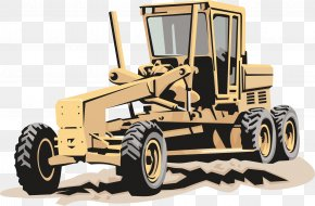 Tractor Vector Element - Caterpillar Inc. Heavy Equipment Architectural Engineering Clip Art PNG
