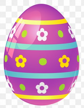 Purple Easter Egg With Flowers Picture - Easter Egg Food PNG