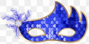 Blue Carnival Mask Clip Art Image - Carnival Mask Masquerade Ball Clip Art PNG