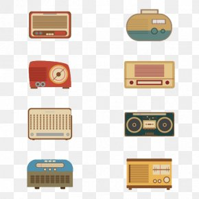 Flat Radio - Antique Radio Euclidean Vector Download PNG