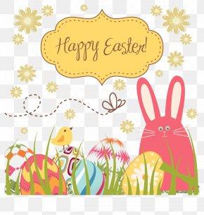 Easter Egg Bunny Vector Background Fabric. - Easter Bunny Easter Egg Clip Art PNG