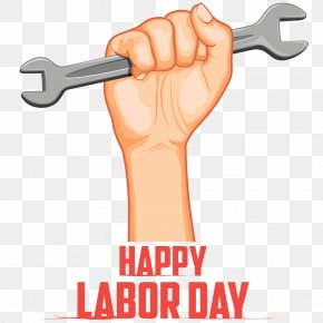 Cartoon Hand Painted Hand Wrench - Labor Day International Workers Day Labour Day Illustration PNG
