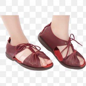 Sandal - Sandal High-heeled Shoe Ballet Shoe Wine PNG