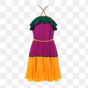 Ms. Silk Dress - Shoulder Skirt Dance Costume Dress PNG