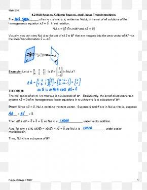 Space - Vector Space Linear Algebra Kernel PNG