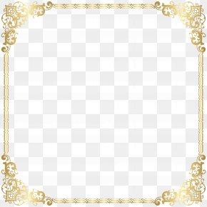 Border Frame Gold Clip Art Image - Area Pattern PNG