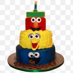 Multi-layer Birthday Cake - Birthday Cake Cupcake Cookie Monster Elmo Butter Cake PNG