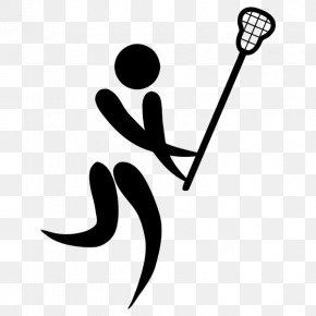 Lacrosse - Summer Olympic Games Lacrosse Pictogram Clip Art PNG