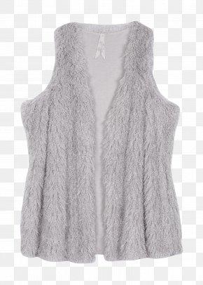Fake Fur - Cardigan Neck Wool PNG