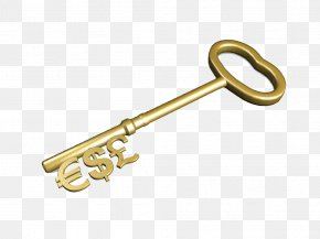 Currency Signs Golden Key Image - Investment Stock Saving Money Account PNG