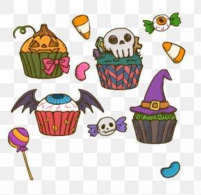Halloween Horror Funny Cake - Halloween Cake Cupcake Birthday Cake Clip Art PNG