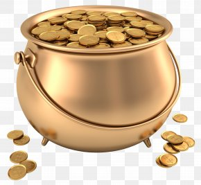Pot Of Gold Picture - Gold Clip Art PNG