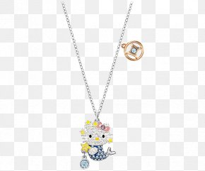 Swarovski Jewellery Women,Mermaid Necklace - Hello Kitty Swarovski AG Girlfriend Necklace Love PNG