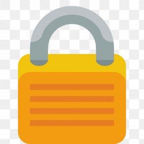 Lock - Lock Material Hardware Accessory Yellow PNG