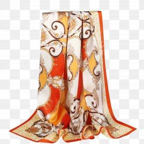 Orange Edge Scarf - Scarf JD.com Silk Shawl NASDAQ:JD PNG