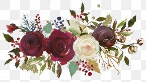 Flower - Garden Roses Floral Design Flower Watercolor Painting PNG