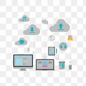 Cloud Network Vector Material - Graphic Design Cloud Computing Computer Network Icon PNG
