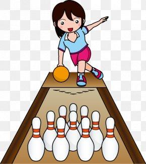 Kids Playing - Ten-pin Bowling Ball Game Sport Clip Art PNG