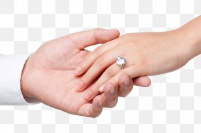 The Bride And Groom Hand In Hand - Engagement Ring Wedding Ring Marriage Hand PNG